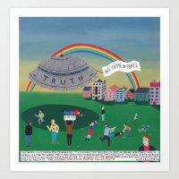 The Extraterrestrial Thr… Art Print