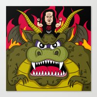 Danzig On A Dragon Canvas Print