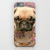 iPhone & iPod Case featuring A little pug of tea by C...