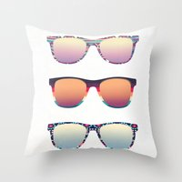 PUT YOUR GLASSES ON ...  Throw Pillow