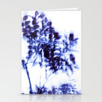 Impressionist leaves ~ indigo series 1 Stationery Cards