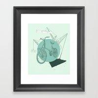 3 Speed Framed Art Print