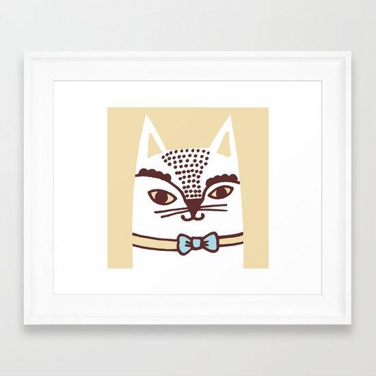 Katze #3 Framed Art Print