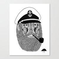 Captain Monkey Pants Of The Sea Canvas Print