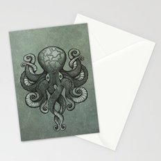 Grey Dectapus Stationery Cards