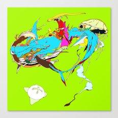 因幡の白兎 - WHITE … Canvas Print