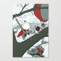 Todd Climbs a Tree Canvas Print