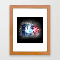 Welcome To The 3rd Dimen… Framed Art Print