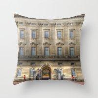 Buckingham Palace Guardsman Throw Pillow