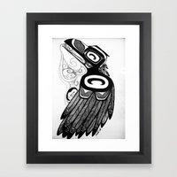 Raven Steals the Water Framed Art Print