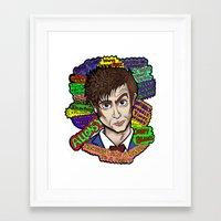 The 10th Doctor Framed Art Print