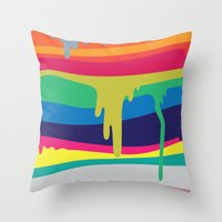 Melt On Throw Pillow