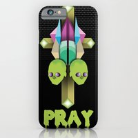 iPhone & iPod Case featuring PRAY by Steven D'Arbenzio