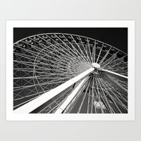 Navy Pier's Ferris Wheel Art Print
