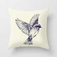lost bird Throw Pillow