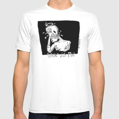 woe is me Mens Fitted Tee White SMALL
