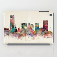 oklahoma city oklahoma skyline iPad Case