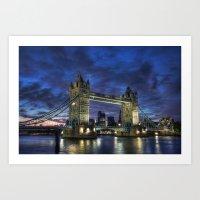 Tower Bridge Blue Hour Art Print
