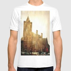 Church Time! White SMALL Mens Fitted Tee