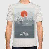 Avatar The Legend Of Kor… Mens Fitted Tee Silver SMALL