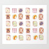 Toast Pattern Art Print