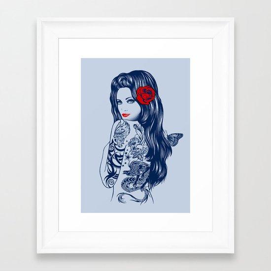Tattoo Lolita Framed Art Print