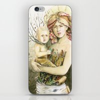 Mother Earth to her child iPhone & iPod Skin