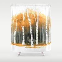 Autumn Wolf Shower Curtain