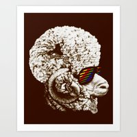 Funky sheep Art Print