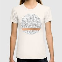 Marble and copper Womens Fitted Tee Natural SMALL