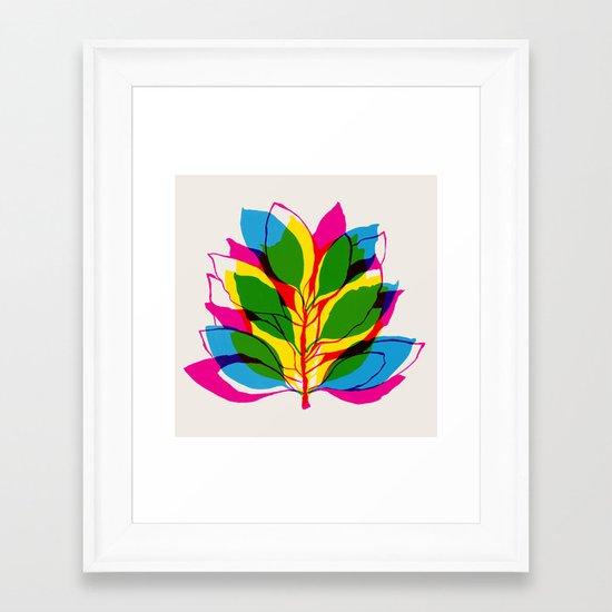 Blossom CMYK Framed Art Print