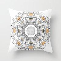 Pacific Mandala Throw Pillow