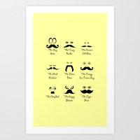 Eyes and Facial Hair Art Print