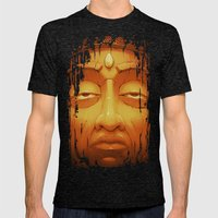 Buddha II Gold Mens Fitted Tee Tri-Black SMALL