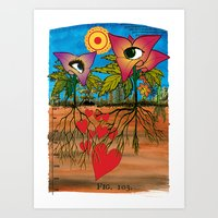 Intra-terrestrial messages Art Print
