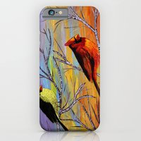 iPhone & iPod Case featuring Birds on the birch tree by maggs326