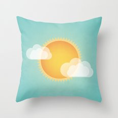 Sun in the Sky Throw Pillow