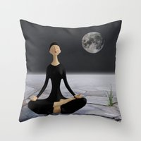 Let yourself drift through time and space Throw Pillow