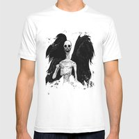 Angel of Death Mens Fitted Tee White SMALL