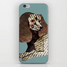 Dachshund Dog Collage in Teal iPhone & iPod Skin