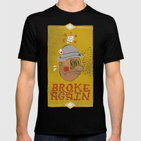 Broke Again Mens Fitted Tee Black SMALL