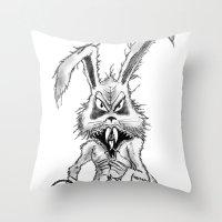 Easter Evil Throw Pillow