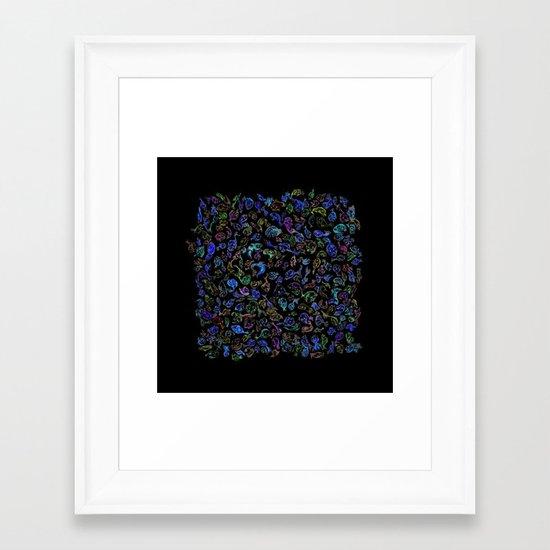 tsuyoshi's fishes Framed Art Print