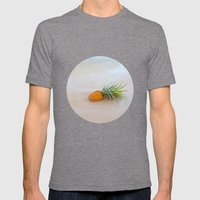 Island Style Pineapple  Mens Fitted Tee Tri-Grey SMALL