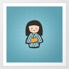 Geisha Dress Code (blue) Art Print