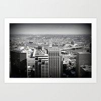 Cincinnati - Downtown #2 Art Print
