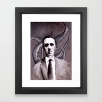 Shuddering At The Nameless Things Framed Art Print