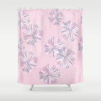 Soft Retro Bloom Shower Curtain