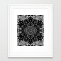 River Foam Snowflake Framed Art Print