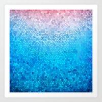 Pink Vs Blue Art Print
